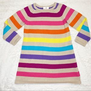 Hanna Andersson striped sweater dress